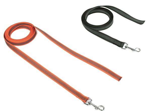 Gummierte Sportleinen Orange & Schwarz