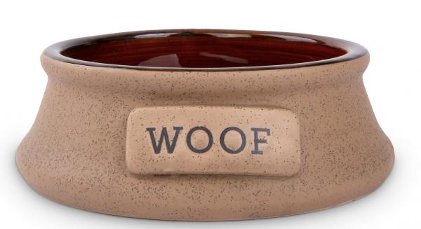 Keramiknapf für Hunde in braun/dunkelbraun (750ml)