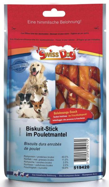 Biscuit Stick im Pouletmantel 100gr.