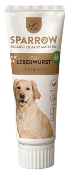 Sparrow Leberwurstpaste mit CBD für Hunde